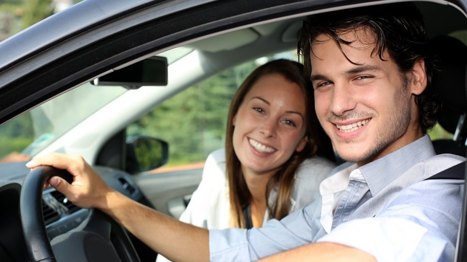 Girl with Driving Instructor
